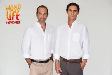 Pedro Tinoco e António Coelho Dias  Fundadores e Diretores Executivos do projeto World Life Experience.